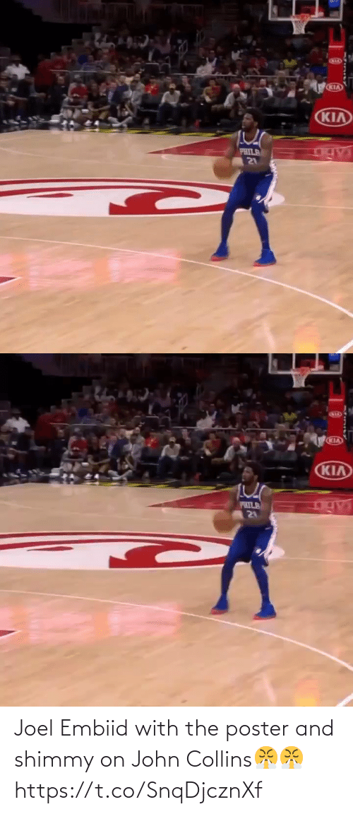 joel: Joel Embiid with the poster and shimmy on John Collins😤😤 https://t.co/SnqDjcznXf
