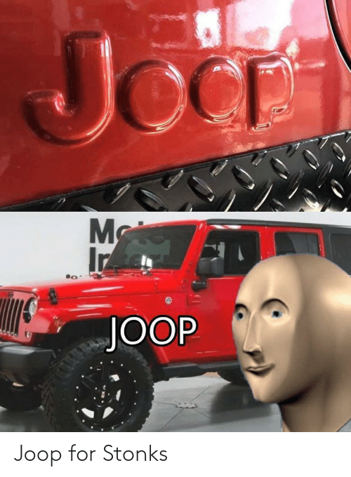 for: Joop for Stonks