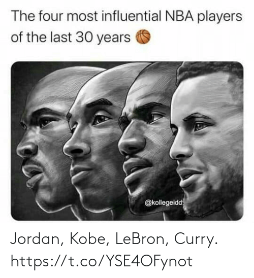 Kobe: Jordan, Kobe, LeBron, Curry. https://t.co/YSE4OFynot