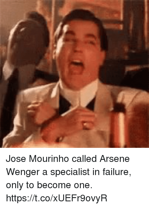José Mourinho: Jose Mourinho called Arsene Wenger a specialist in failure, only to become one. https://t.co/xUEFr9ovyR