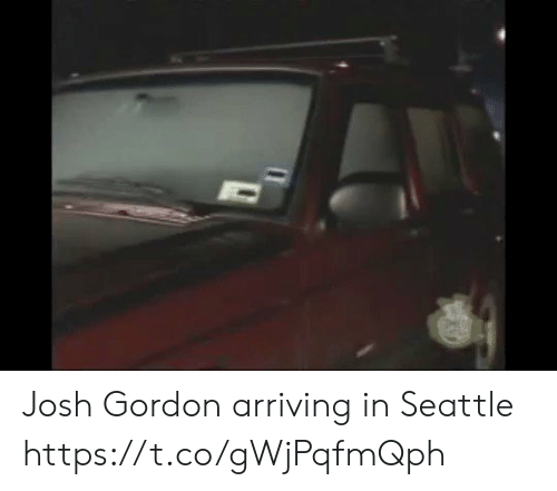 Football, Nfl, and Sports: Josh Gordon arriving in Seattle https://t.co/gWjPqfmQph