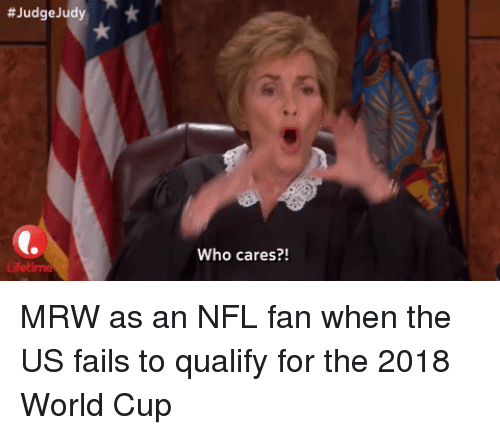 nfl fan:  #JudgeJudy  Who cares?!
