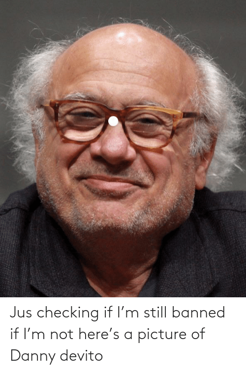 Funny, A Picture, and Danny Devito: Jus checking if I'm still banned if I'm not here's a picture of Danny devito