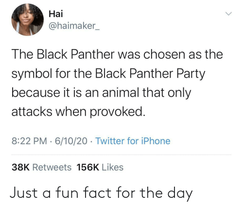 day: Just a fun fact for the day