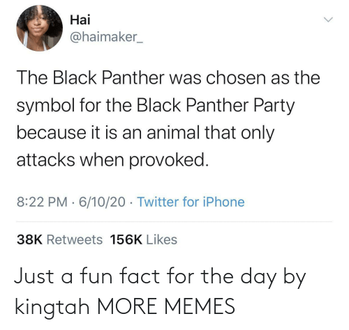 fun: Just a fun fact for the day by kingtah MORE MEMES
