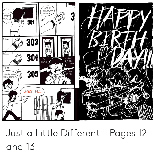 pages: Just a Little Different - Pages 12 and 13