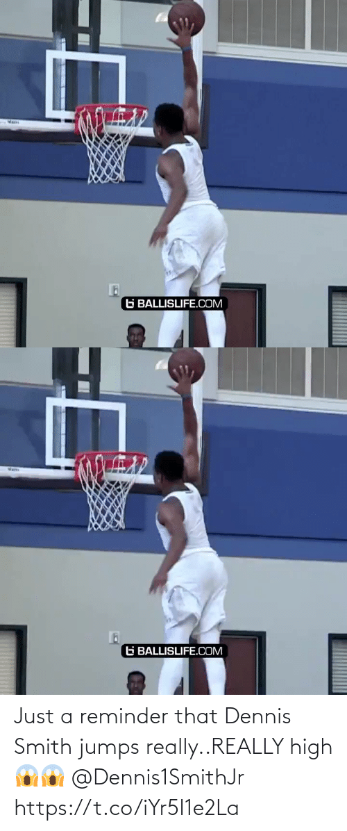 reminder: Just a reminder that Dennis Smith jumps really..REALLY high 😱😱  @Dennis1SmithJr https://t.co/iYr5I1e2La