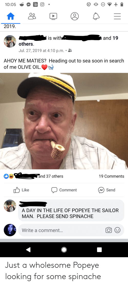 Popeye: Just a wholesome Popeye looking for some spinache