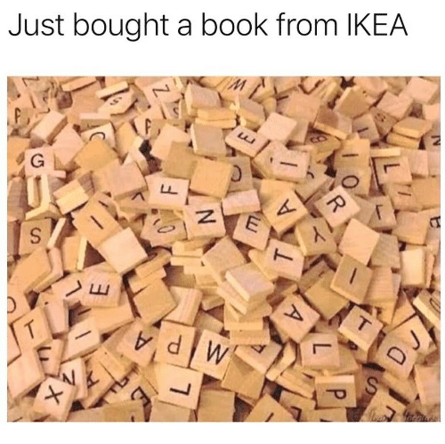 Ikea, Book, and Just: Just bought a book from IKEA  Al