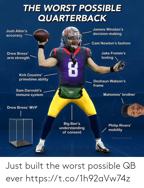 The Worst: Just built the worst possible QB ever https://t.co/1h92aVw74z