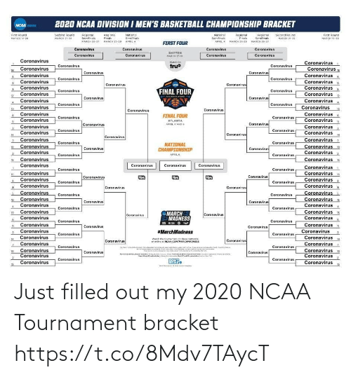 NFL: Just filled out my 2020 NCAA Tournament bracket https://t.co/8Mdv7TAycT