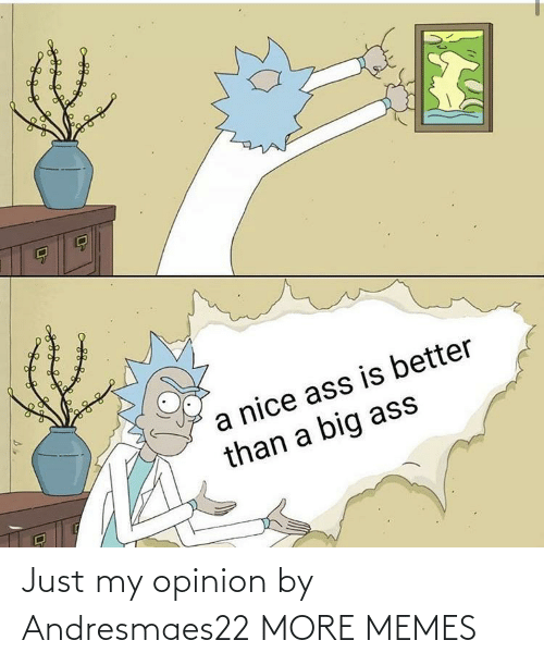 opinion: Just my opinion by Andresmaes22 MORE MEMES