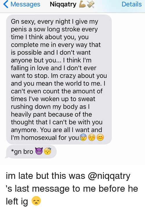 K Messages Niqqatry B Gn Sexy Every Night I Give My Penis A Sow Long