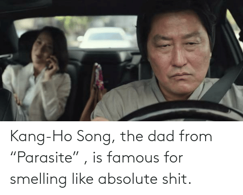 """Kang: Kang-Ho Song, the dad from """"Parasite"""" , is famous for smelling like absolute shit."""