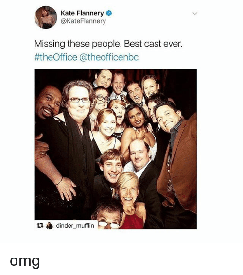 katee: Kate Flannery  @KateFlannery  Missing these people. Best cast ever.  #theOffice @theofficenbc  t1 dinder_mufflin omg