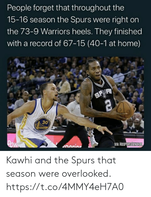 Spurs: Kawhi and the Spurs that season were overlooked. https://t.co/4MMY4eH7A0
