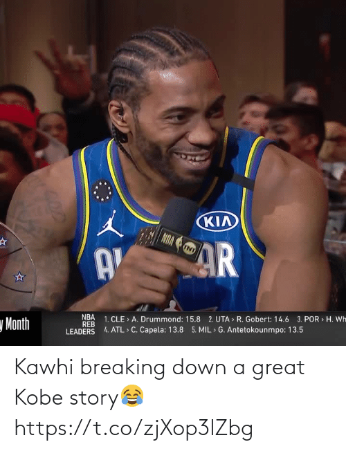 Kobe: Kawhi breaking down a great Kobe story😂 https://t.co/zjXop3lZbg