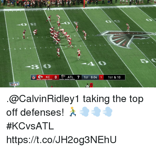 Memes, Nfl, and 🤖: KC 0  ATL 71ST 8:04 5 1ST & 10  NFL .@CalvinRidley1 taking the top off defenses! 🏃💨💨💨  #KCvsATL https://t.co/JH2og3NEhU
