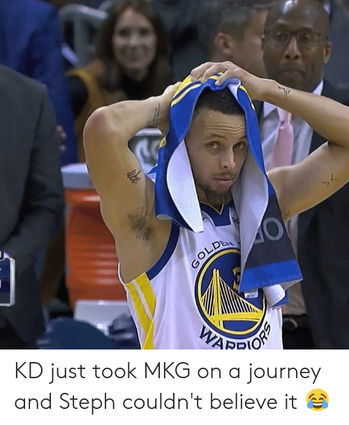 Journey, Believe, and Just: KD just took MKG on a journey and Steph couldn't believe it 😂