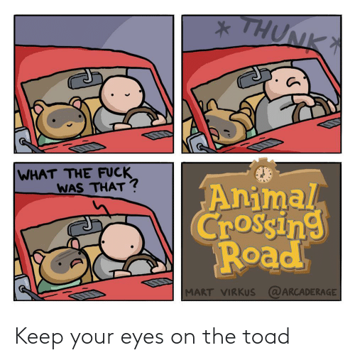 eyes: Keep your eyes on the toad