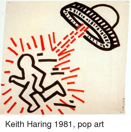 Pop, Art, and Keith Haring: Keith Haring 1981, pop art