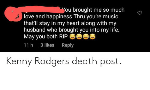 kenny: Kenny Rodgers death post.