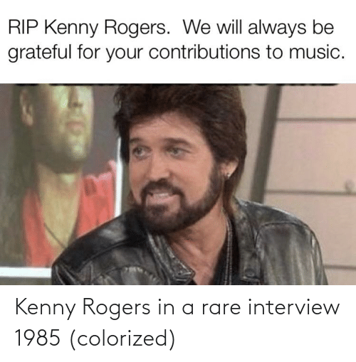 kenny: Kenny Rogers in a rare interview 1985 (colorized)