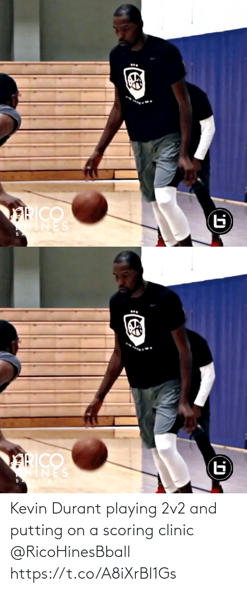 kevin: Kevin Durant playing 2v2 and putting on a scoring clinic @RicoHinesBball https://t.co/A8iXrBl1Gs