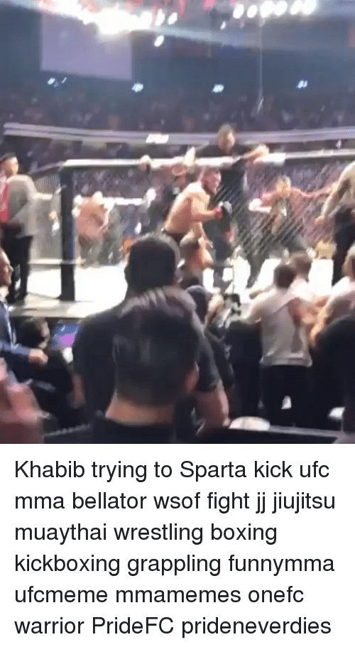 Boxing, Memes, and Ufc: Khabib trying to Sparta kick ufc mma bellator wsof fight jj jiujitsu muaythai wrestling boxing kickboxing grappling funnymma ufcmeme mmamemes onefc warrior PrideFC prideneverdies