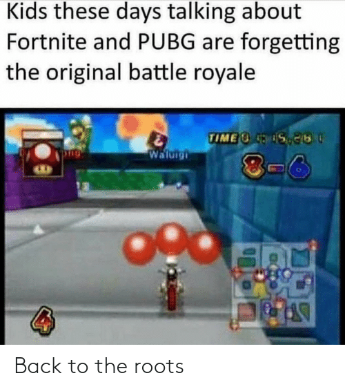 Forgetting: Kids these days talking about  Fortnite and PUBG are forgetting  the original battle royale  TIME S  Waluigi  8-6 Back to the roots