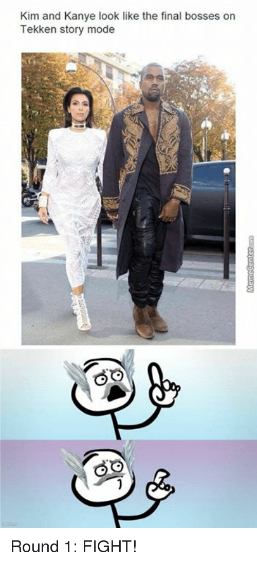 kim and kanye: Kim and Kanye look like the final bosses on  Tekken story mode Round 1: FIGHT!