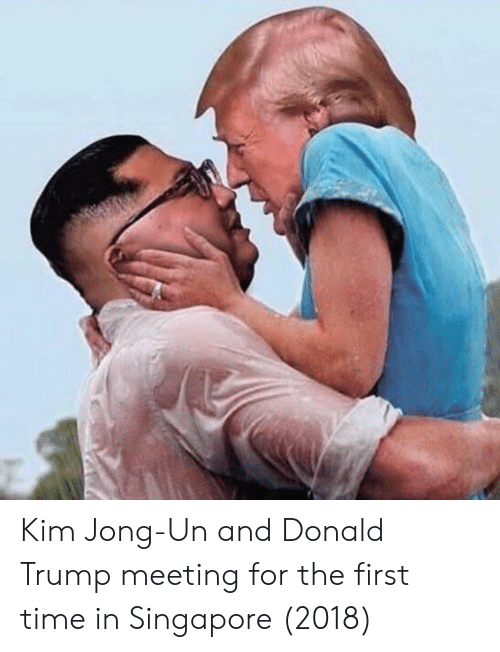 Kim Jong-un: Kim Jong-Un and Donald Trump meeting for the first time in Singapore (2018)