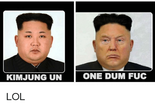 Lol, Memes, and 🤖: KIM JUNG UN  ONE DUM FUC LOL