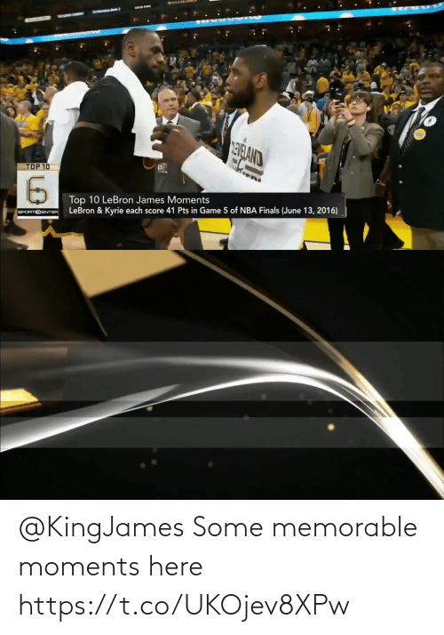 Here: @KingJames Some memorable moments here https://t.co/UKOjev8XPw