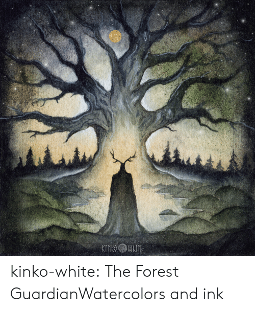 Guardian: kinko-white:  The Forest GuardianWatercolors and ink