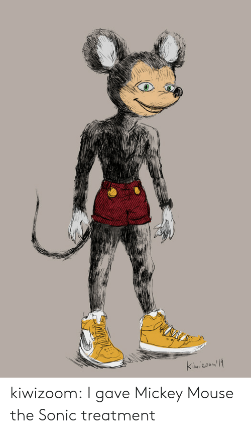 Target, Tumblr, and Blog: kiwizoom:  I gave Mickey Mouse the Sonic treatment