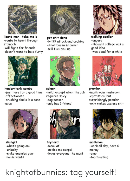 tag yourself: knightofbunnies:  tag yourself!