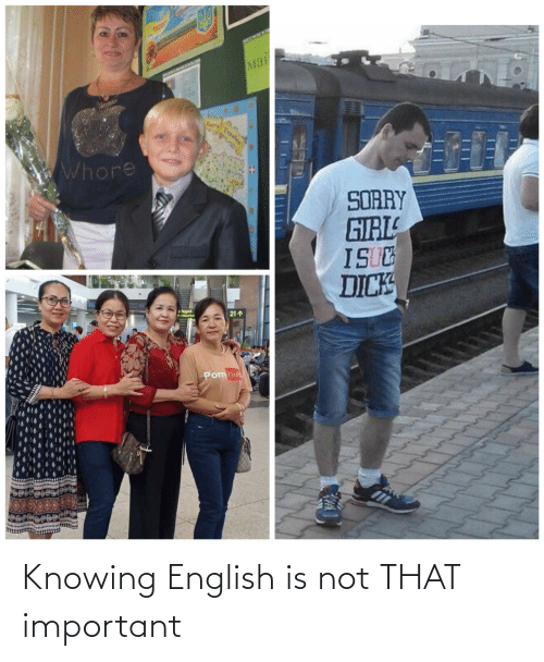 English: Knowing English is not THAT important