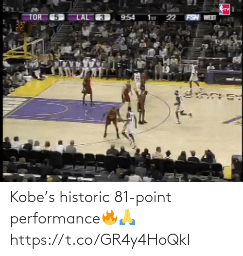 Kobe: Kobe's historic 81-point performance🔥🙏 https://t.co/GR4y4HoQkI