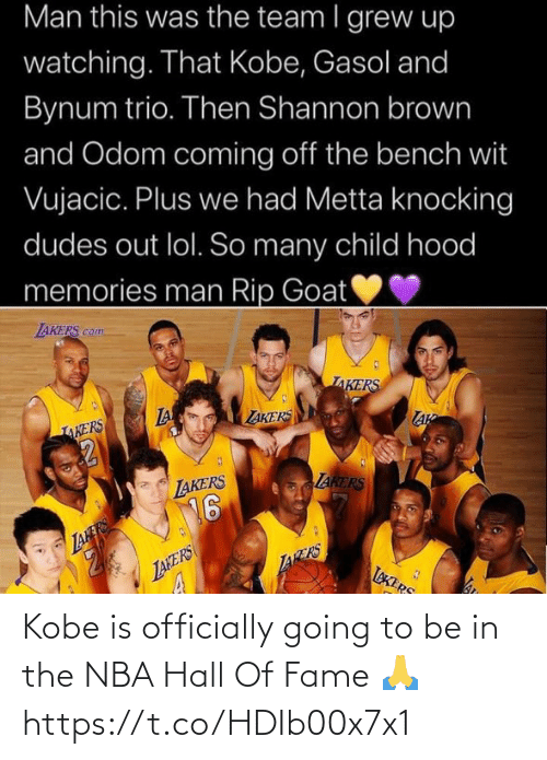 hall of fame: Kobe is officially going to be in the NBA Hall Of Fame 🙏 https://t.co/HDIb00x7x1