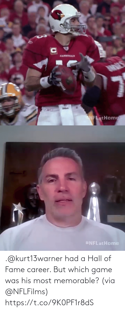 fame: .@kurt13warner had a Hall of Fame career.   But which game was his most memorable? (via @NFLFilms) https://t.co/9K0PF1r8dS