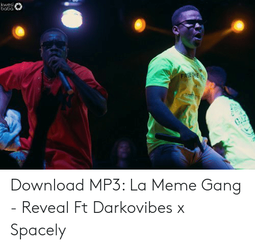 Darkovibes: kwesi,  bobo  FREE T4E  CAP Download MP3: La Meme Gang - Reveal Ft Darkovibes x Spacely