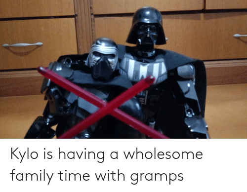 Wholesome Family: Kylo is having a wholesome family time with gramps