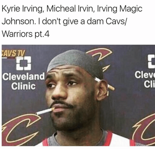 Cavs, Kyrie Irving, and Magic Johnson: Kyrie Irving, Micheal Irvin, Irving Magic  Johnson. I don't give a dam Cavs/  Warriors pt.4  AVS TV  Cleveland  Clinic  Cleve  Cli