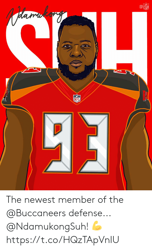 Memes, Nfl, and 🤖: @lǐji  NFL The newest member of the @Buccaneers defense... @NdamukongSuh! 💪 https://t.co/HQzTApVnIU