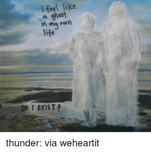 Tumblr, Blog, and Ghost: l feel like  a ghost  DO I EXIST? thunder:    via weheartit