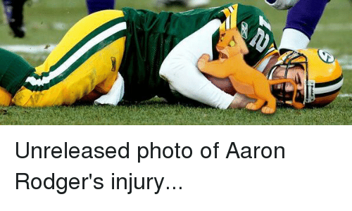 l unreleased photo of aaron rodgers injury 11346585 ✅ 25 best memes about aaron rodgers hail mary aaron rodgers