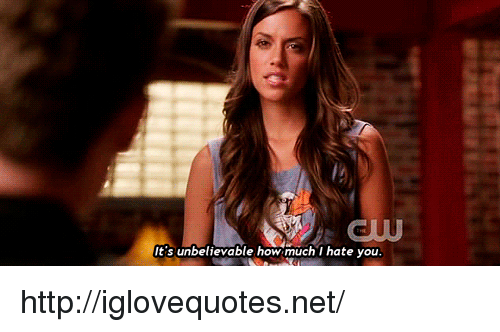 i hate you: l2  It's unbelievable how much I hate you http://iglovequotes.net/