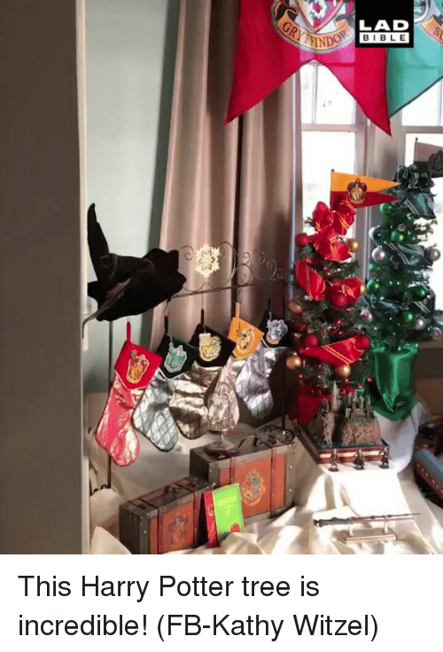 kathy: LAD  BIBLE This Harry Potter tree is incredible! (FB-Kathy Witzel)