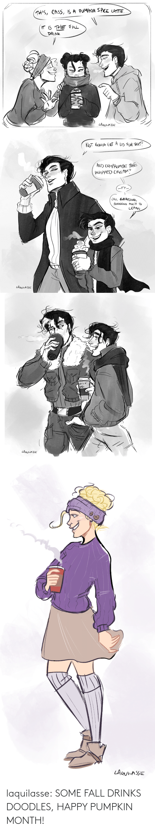 month: laquilasse:  SOME FALL DRINKS DOODLES, HAPPY PUMPKIN MONTH!